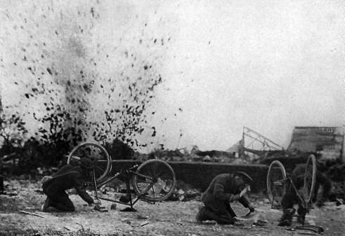 Cyclist Corp under Fire in WWI